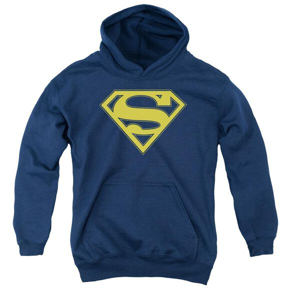 Superman Maize & Blue Shield Youth Pull Over Hoodie
