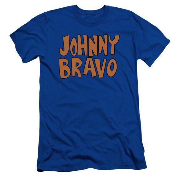 Johnny Bravo Jb Logo Short Sleeve Adult Royal T-Shirt