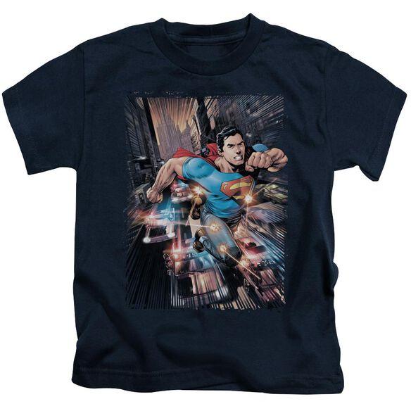 Superman Action Comics #1 Short Sleeve Juvenile Navy Md T-Shirt