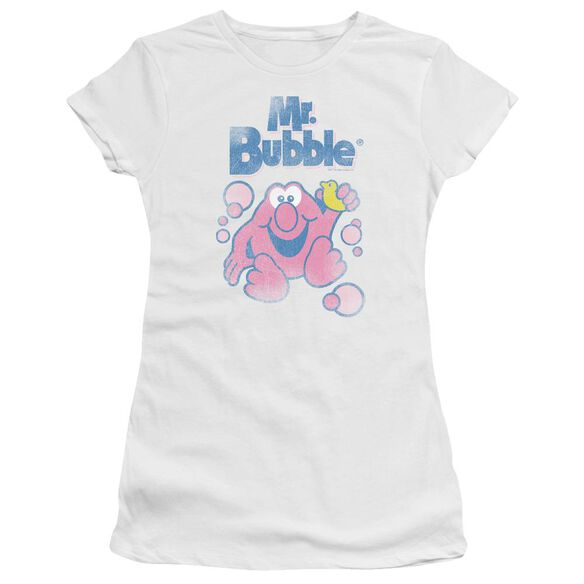 Mr Bubble 80 S Logo Short Sleeve Junior Sheer T-Shirt