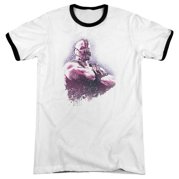 Dark Knight Rises Spray Bane Adult Ringer White Black