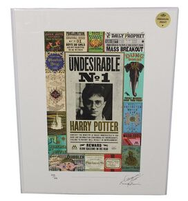 Harry Potter Minalima Art Print Prop Reproduction [Premium]