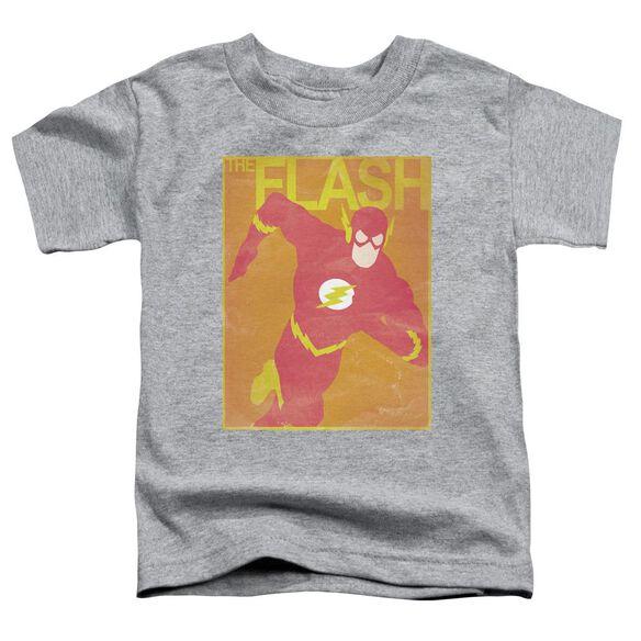 Jla Simple Flash Poster Short Sleeve Toddler Tee Athletic Heather T-Shirt