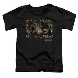 Labyrinth Say Your Right Words Short Sleeve Toddler Tee Black Lg T-Shirt