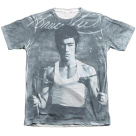 Bruce Lee Nunchucks Adult Poly Cotton Short Sleeve Tee T-Shirt