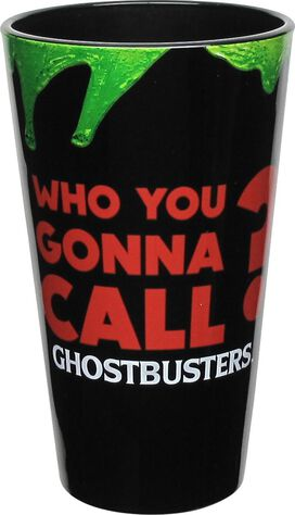 Ghostbusters Who You Gonna Call Slimed Pint Glass
