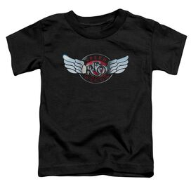 Reo Speedwagon Rendered Logo Short Sleeve Toddler Tee Black T-Shirt