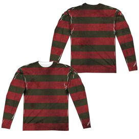 Nightmare On Elm Street Freddy Sweater Long Sleeve Adult Poly Crew T-Shirt