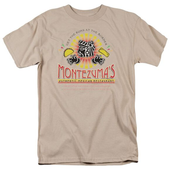 Montezuma's Short Sleeve Adult Sand T-Shirt