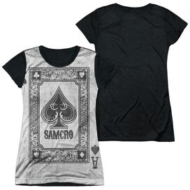 Sons Of Anarchy Ace Of Spades Short Sleeve Junior Poly Black Back T-Shirt