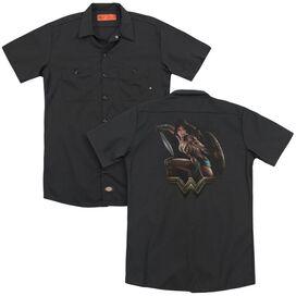 Wonder Woman Movie Fight (Back Print) Adult Work Shirt