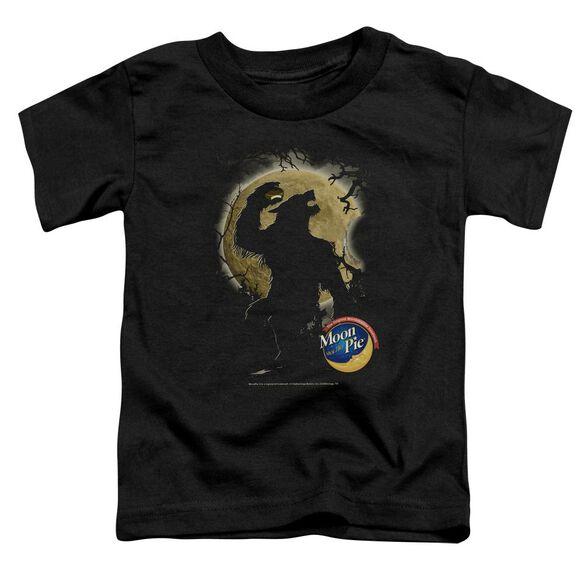 Moon Pie Howling Moon Pie Short Sleeve Toddler Tee Black T-Shirt