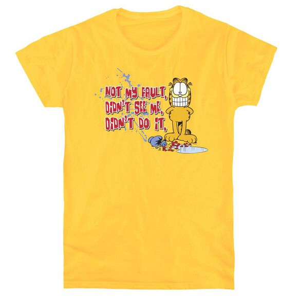GARFIELD NOT MY FAULT - S/S WOMENS TEE - YELLOW T-Shirt