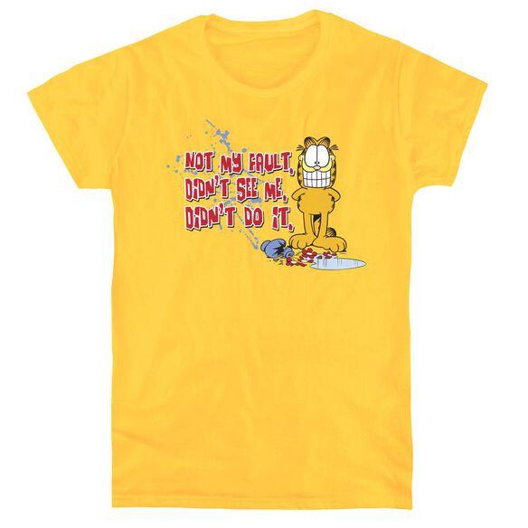 GARFIELD NOT MY FAULT - S/S WOMENS TEE - YELLOW T-Shirt