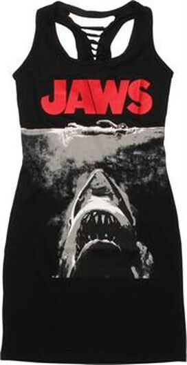Jaws Poster Braided Tank Top Dress
