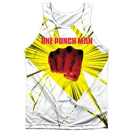 One Punch Man Shattered Adult Poly Tank Top