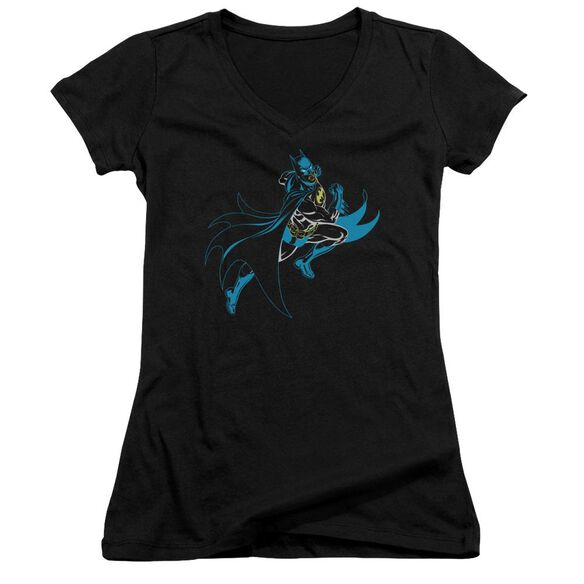 Batman Neon Batman Junior V Neck T-Shirt