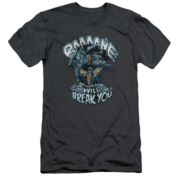 BATMAN BANE WILL BREAK YOU - S/S ADULT 30/1 - CHARCOAL T-Shirt