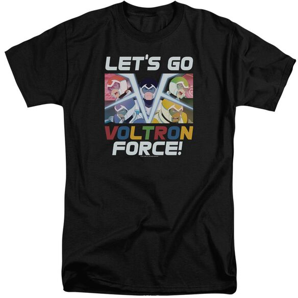Voltron Lets Go Short Sleeve Adult Tall T-Shirt
