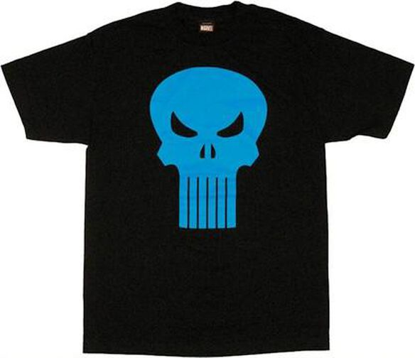 Punisher Six Tooth Blue Skull T-Shirt
