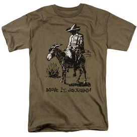 Move It Jackass Short Sleeve Adult Safari Green T-Shirt