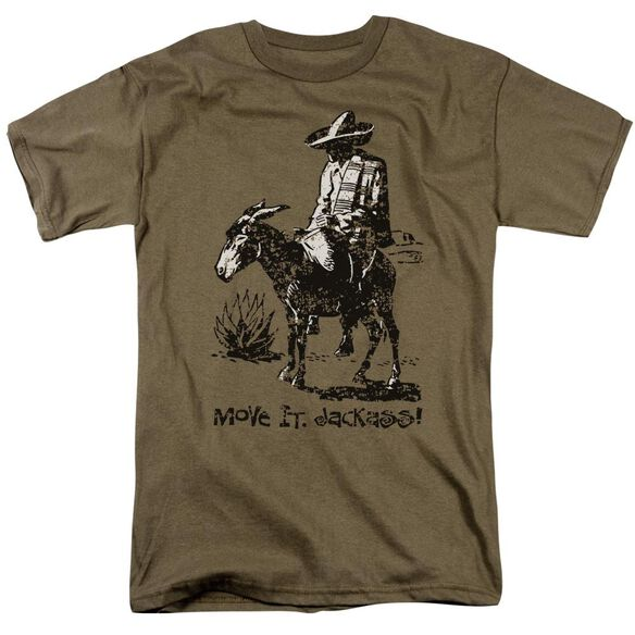 Move It Jackass Short Sleeve Adult Safari Green T-Shirt