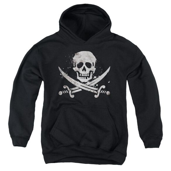 Distressed Jolly Roger Youth Pull Over Hoodie