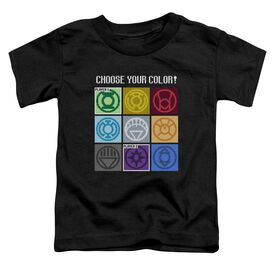 Dc Choose Your Color Short Sleeve Toddler Tee Black T-Shirt