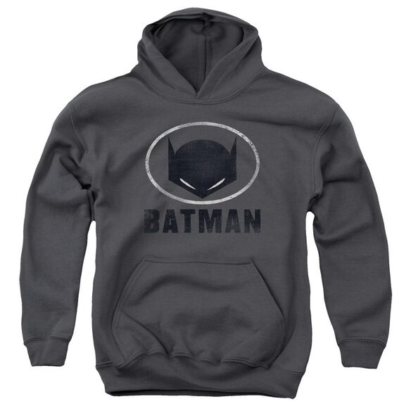 Batman Mask In Oval Youth Pull Over Hoodie