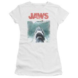 Jaws Vintage Poster Short Sleeve Junior Sheer T-Shirt