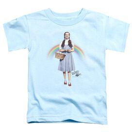 Wizard Of Oz Over The Rainbow Short Sleeve Toddler Tee Light Blue T-Shirt
