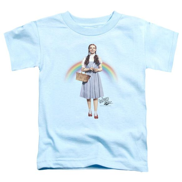 Wizard Of Oz Over The Rainbow Short Sleeve Toddler Tee Light Blue T-Shirt