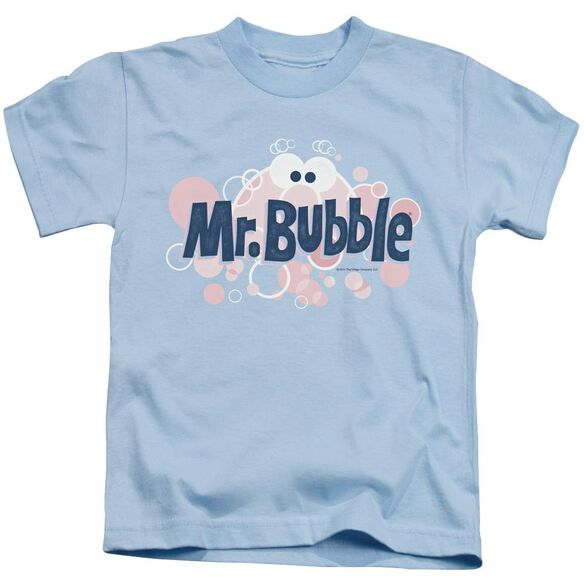 Mr Bubble Eye Logo Short Sleeve Juvenile Light Blue T-Shirt