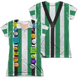 Office Space Chotchkies Costume (Front Back Print) Short Sleeve Junior Poly Crew T-Shirt