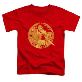 Jla Young Wonder Short Sleeve Toddler Tee Red T-Shirt