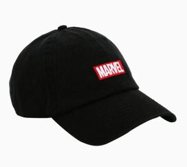 Marvel Logo Block Black Hat