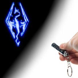 Elder Scrolls Skyrim Logo Flashlight Keychain