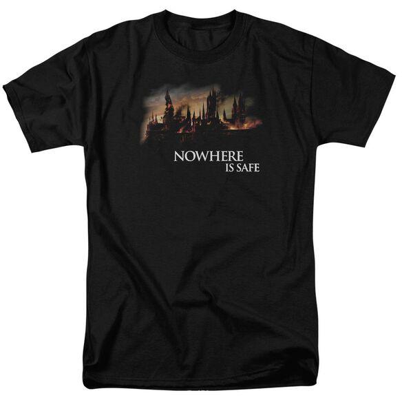 Harry Potter Burning Hogwarts Short Sleeve Adult T-Shirt