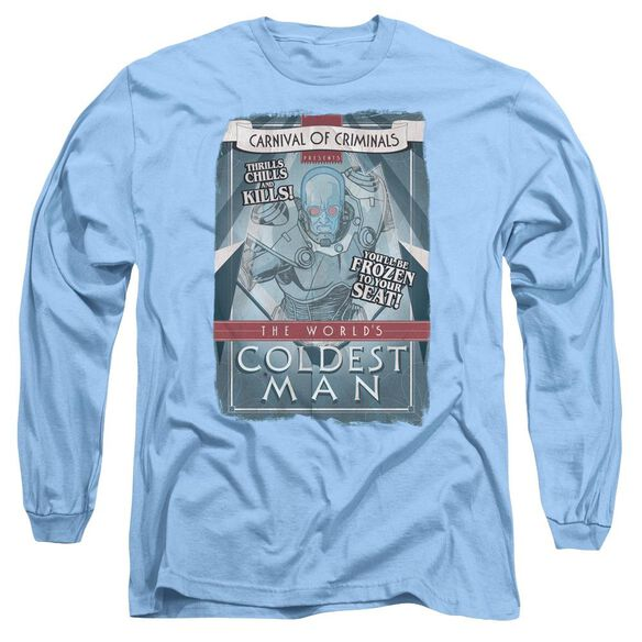 BATMAN COLDEST MAN - L/S ADULT 18/1 - CAROLINA BLUE T-Shirt