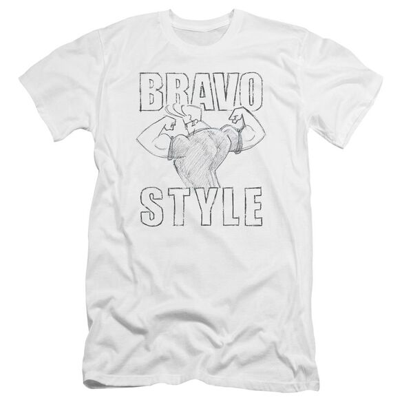 Johnny Bravo Bravo Style Premuim Canvas Adult Slim Fit