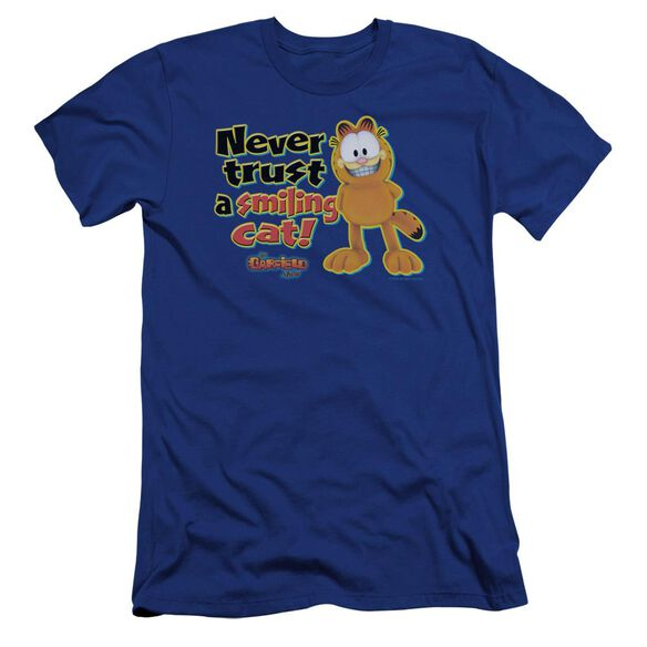 Garfield Smiling Premuim Canvas Adult Slim Fit Royal