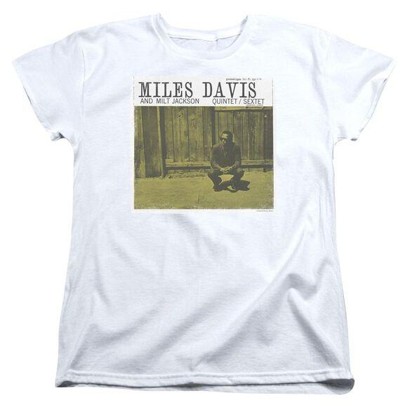 Miles Davis Miles And Milt Short Sleeve Womens Tee T-Shirt