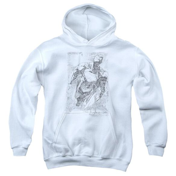 Superman Exploding Space Sketch Youth Pull Over Hoodie