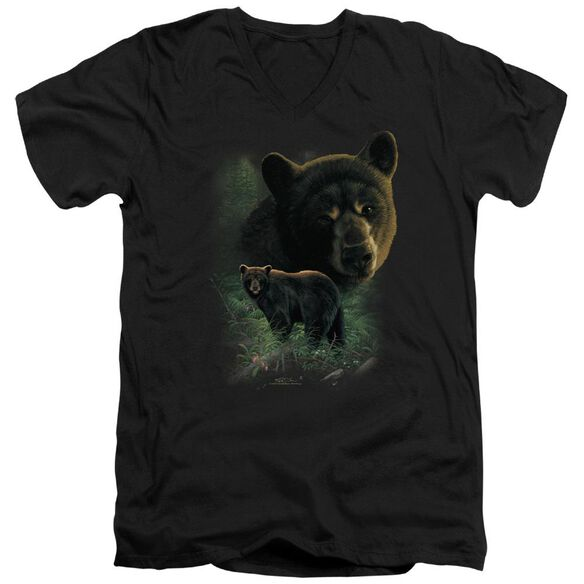 Wildlife Bears Short Sleeve Adult V Neck T-Shirt