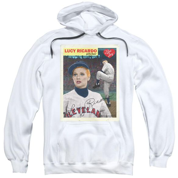 I Love Lucy Trading Card Adult Pull Over Hoodie