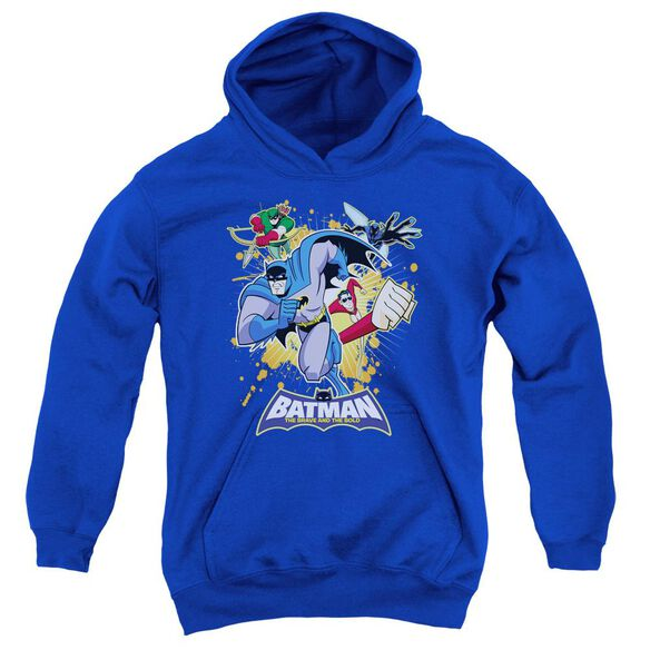 Batman Bb Burst Into Action Youth Pull Over Hoodie