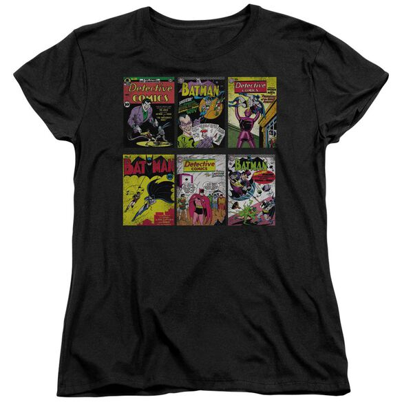 BATMAN BM COVERS - S/S WOMENS TEE - BLACK T-Shirt