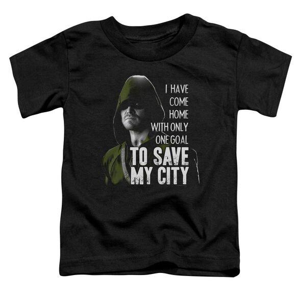 Arrow Save My City Short Sleeve Toddler Tee Black T-Shirt