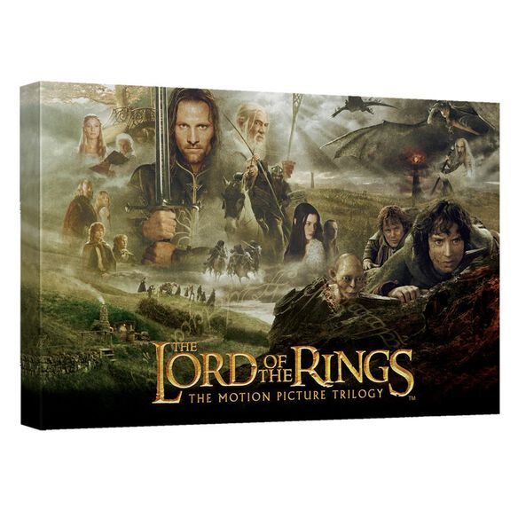 Lord Of The Rings Trilogy Canvas Wall Art With Back Board
