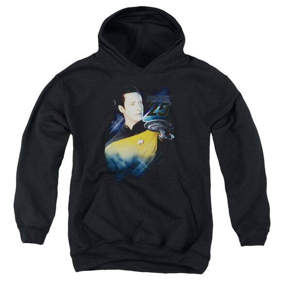 Star Trek Data 25 Th Youth Pull Over Hoodie